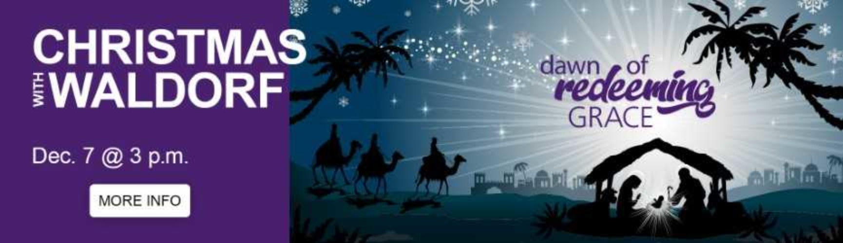 Christmas With Waldorf Banner Dawn of Redeeming Grace