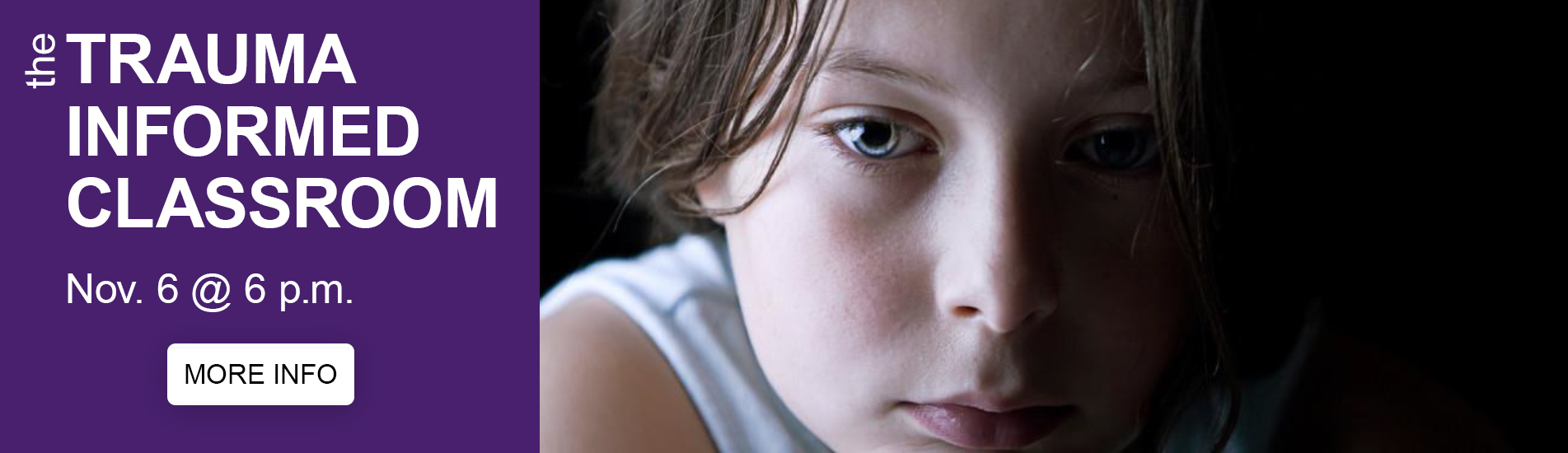 Trauma Informed Classroom speaker Darcie Van Voorst November 6 at 6pm