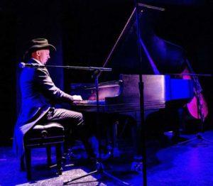 Donovan Johnson playing the piano
