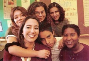 Erin Gruwell with Freedom Writers